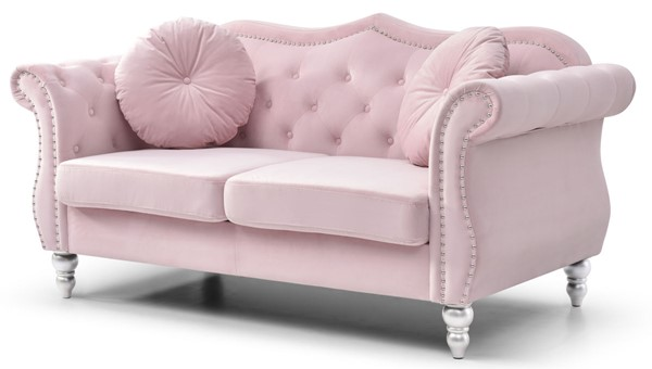 Glory Furniture Hollywood Pink Loveseat GLRY-G0664A-L