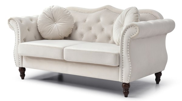 Glory Furniture Hollywood Ivory Loveseat GLRY-G0667A-L