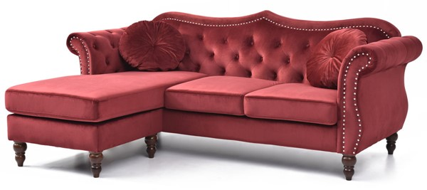 Glory Furniture Hollywood Burgundy Sectional GLRY-G0669B-SC