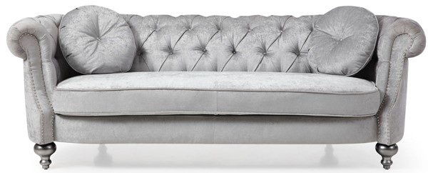 Glory Furniture Salerno Transitional Silver Gray Sofa GLRY-G0740A-S