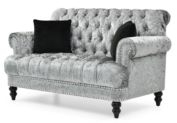 Glory Furniture Paris Silver Gray Tufted Loveseat GLRY-G0890A-L