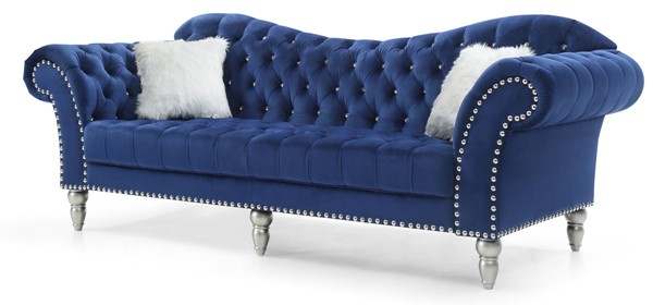 Glory Furniture Wilshire Blue Velvet Sofa GLRY-G0953A-S