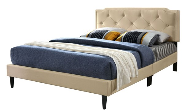 Glory Furniture Deb Casual Beige Queen Bed GLRY-G1103-QB-UP