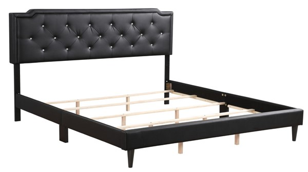 Glory Furniture Deb Casual Black Velvet King Bed GLRY-G1119-KB-UP