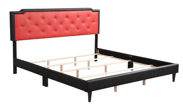 Glory Furniture Deb Casual Black Red King Bed GLRY-G1120-KB-UP