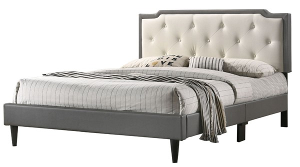 Glory Furniture Deb Casual Light Grey Beige Full Bed GLRY-G1121-FB-UP