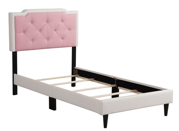 Glory Furniture Deb White Pink Twin Bed GLRY-G1122-TB-UP