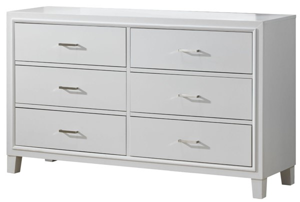 Glory Furniture Darden Contemporary White Dresser GLRY-G1275-D