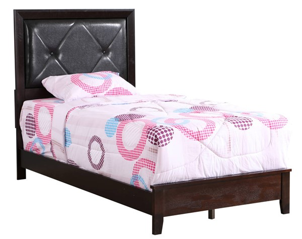 Glory Furniture Primo Espresso Faux Leather Twin Bed GLRY-G1300A-TB