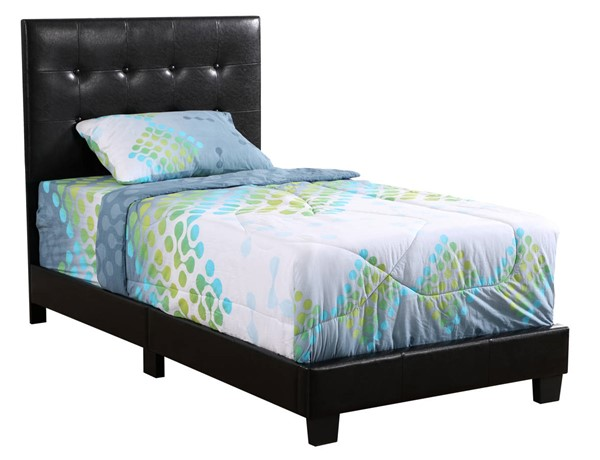 Glory Furniture Caldwell Black Faux Leather Twin Bed GLRY-G1304-TB-UP