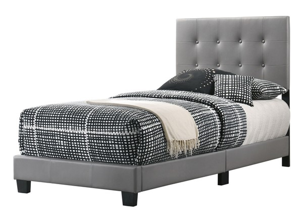 Glory Furniture Caldwell Dark Grey Faux Leather Twin Bed GLRY-G1306-TB-UP
