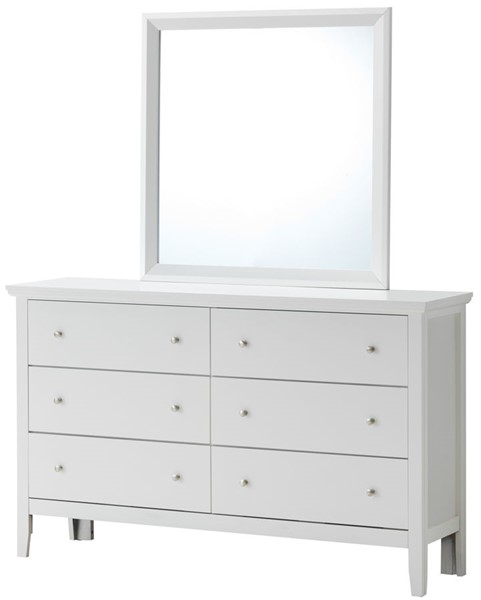 Glory Furniture Primo White Dresser and Mirror GLRY-G1339-DRMR