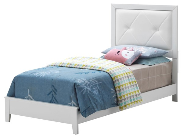 Glory Furniture Primo White Faux Leather Twin Bed GLRY-G1339A-TB