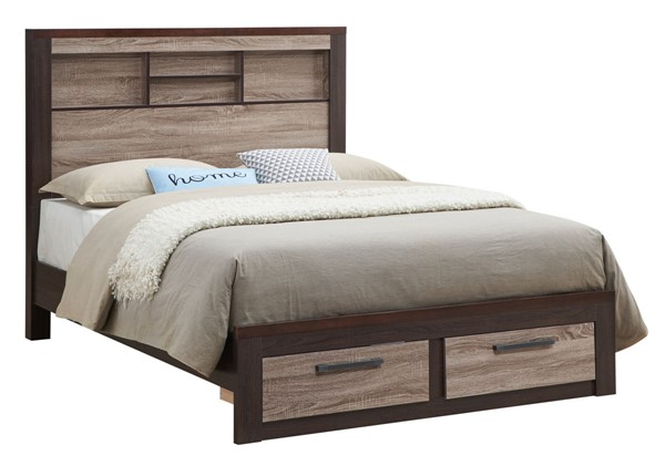 Glory Furniture Magnolia Gray Brown Full Bed GLRY-G1400B-FB