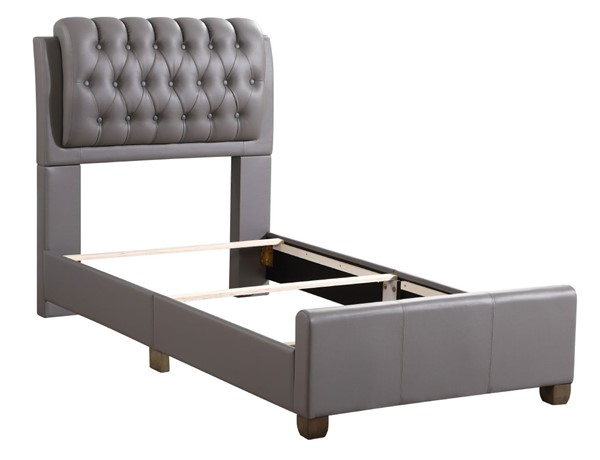 Glory Furniture Marilla Light Grey Faux Leather Twin Bed GLRY-G1505C-TB-UP