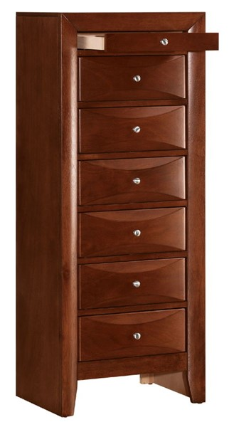 Glory Furniture Marilla Contemporary Cherry 7 Drawer Lingerie Chest GLRY-G1550-LC