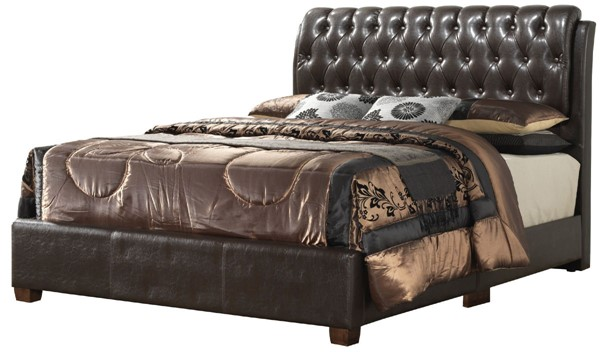 Glory Furniture Marilla Contemporary Brown Tufted Full Bed GLRY-G1550C-FB-UP