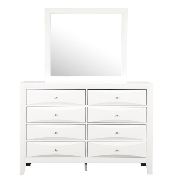 Glory Furniture Marilla Contemporary White Dresser And Mirror GLRY-G1570-DRMR