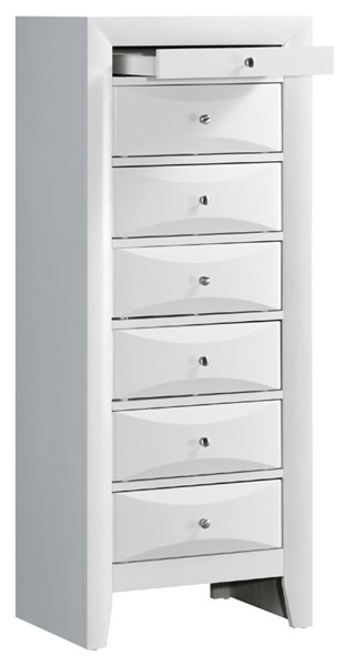 Glory Furniture Marilla Contemporary White 7 Drawer Lingerie Chest GLRY-G1570-LC