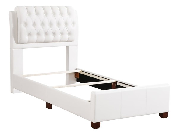 Glory Furniture Marilla White Faux Leather Twin Bed GLRY-G1570C-TB-UP