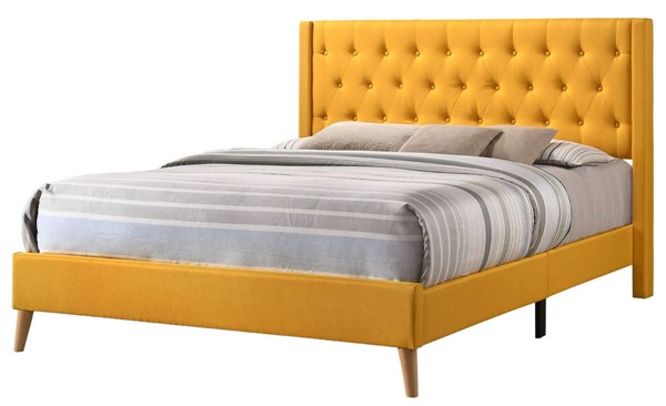 Glory Furniture Bergen Contemporary Yellow King Bed GLRY-G1624-KB-UP