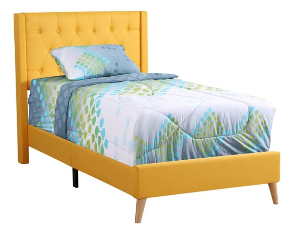 Glory Furniture Bergen Yellow Twin Bed GLRY-G1624-TB-UP