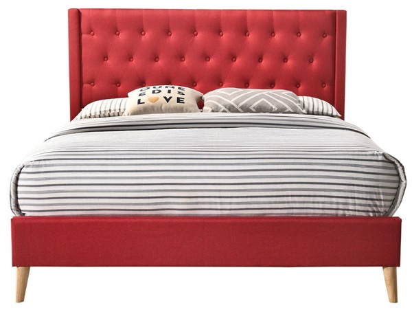 Glory Furniture Bergen Contemporary Red Queen Bed GLRY-G1626-QB-UP