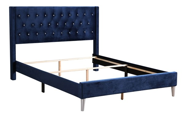 Glory Furniture Bergen Contemporary Navy Blue King Bed GLRY-G1629-KB-UP