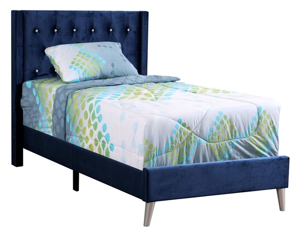 Glory Furniture Bergen Navy Blue Twin Bed GLRY-G1629-TB-UP