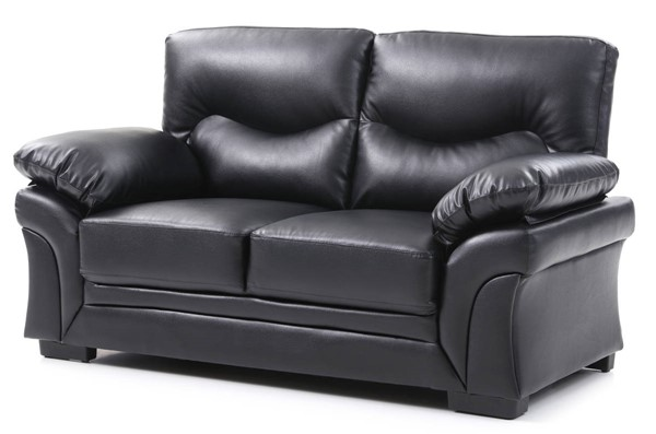 Glory Furniture Vince Black Faux Leather Loveseat GLRY-G163-L