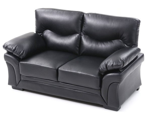 Glory Furniture Vince Transitional Black Loveseats GLRY-G16-LS-VAR