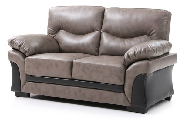 Glory Furniture Vince Gray Faux Leather Loveseat GLRY-G167-L