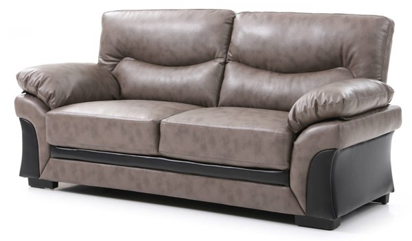 Glory Furniture Vince Gray Faux Leather Sofa GLRY-G167-S