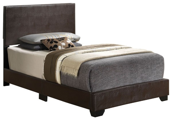 Glory Furniture Aaron Cappuccino Faux Leather Twin Bed GLRY-G1800-TB-UP