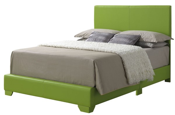 Glory Furniture Aaron Apple Green Faux Leather Full Bed GLRY-G1807-FB-UP