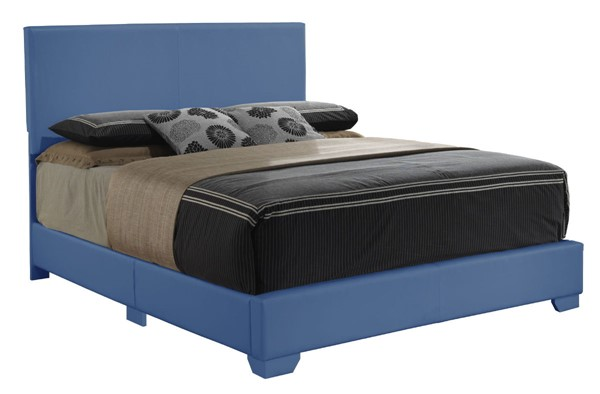 Glory Furniture Aaron Blue Faux Leather Full Bed GLRY-G1835-FB-UP