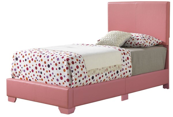 Glory Furniture Aaron Pink Faux Leather Twin Bed GLRY-G1880-TB-UP