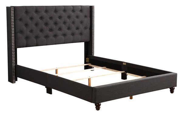 Glory Furniture Julie Black Fabric Queen Upholstered Bed GLRY-G1906-QB-UP
