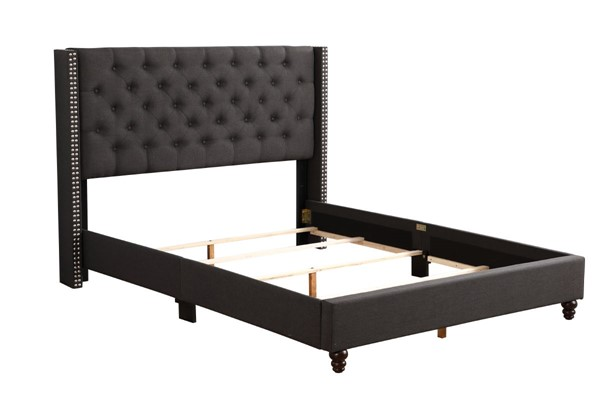 Glory Furniture Julie Transitional Black Full Upholstered Bed GLRY-G1906-FB-UP