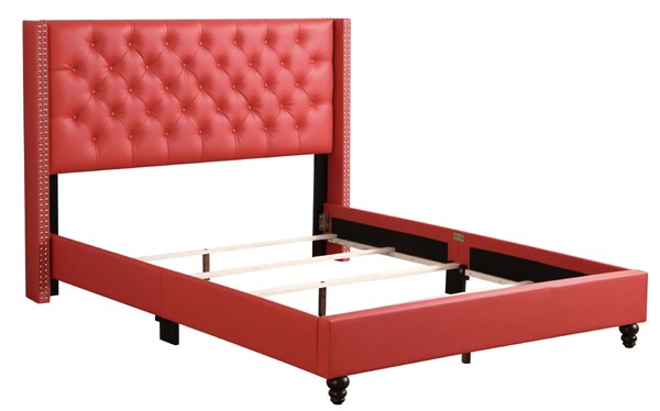 Glory Furniture Julie Red Fabric Full Upholstered Bed GLRY-G1917-FB-UP