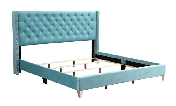 Glory Furniture Julie Transitional Ocean Blue King Upholstered Bed GLRY-G1923-KB-UP