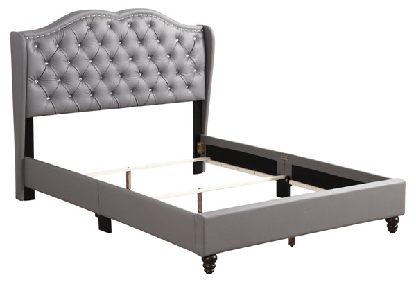 Glory Furniture Joy Transitional Light Grey Full Upholstered Bed GLRY-G1925-FB-UP