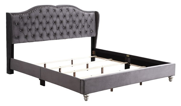 Glory Furniture Joy Transitional Gray King Upholstered Bed GLRY-G1931-KB-UP