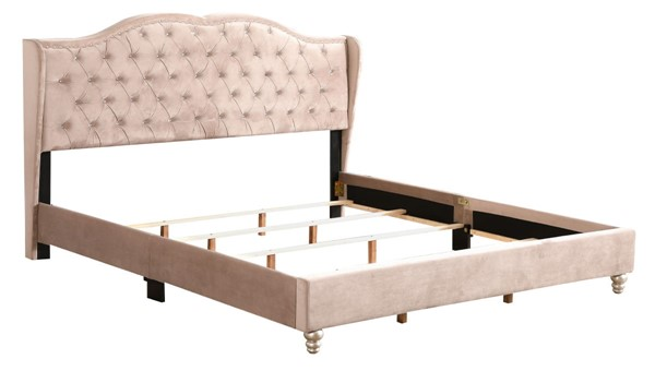 Glory Furniture Joy Beige Fabric King Upholstered Bed GLRY-G1935-KB-UP