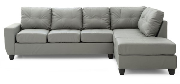 Glory Furniture Nyla Contemporary Gray Sectional GLRY-G202B-SC