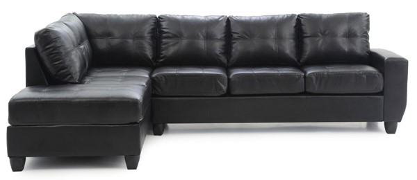 Glory Furniture Nyla Contemporary Black Sectional GLRY-G203B-SC