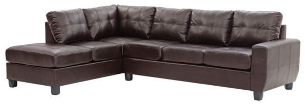 Glory Furniture Nyla Contemporary Cappuccino Sectional GLRY-G205B-SC