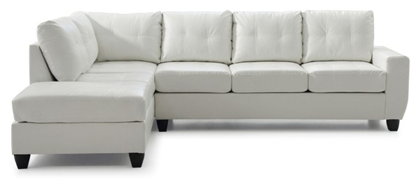 Glory Furniture Nyla Contemporary White Sectional GLRY-G207B-SC