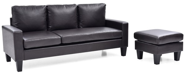 Glory Furniture Jenna Traditional Cappuccino Sofa Chaise GLRY-G215-SCH