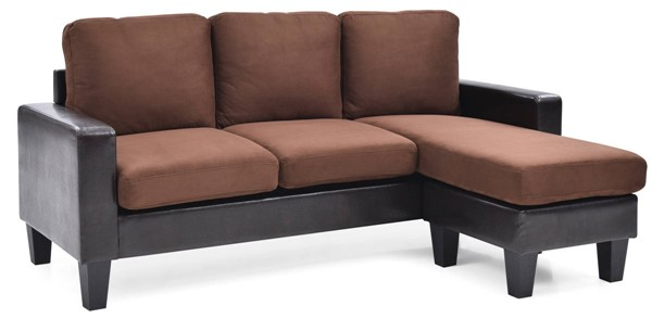 Glory Furniture Jenna Chocolate Sofa Chaise GLRY-G216-SCH